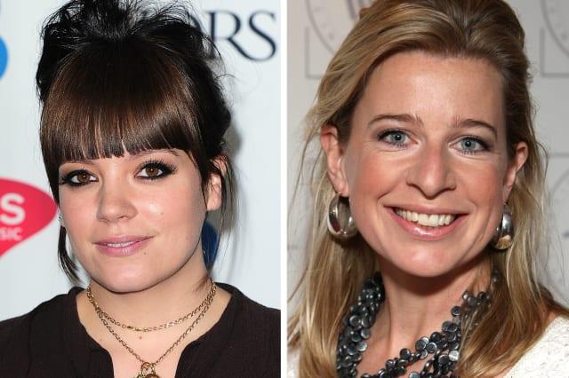 Katie Hopkins, Lily Allen and Alesha Dixon
