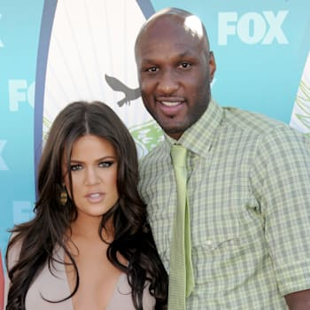 UNIVERSAL CITY, CA - AUGUST 8: Khloe Kardashian and Lamar Odom attend Teen Choice 2010 held at the Gibson Amphitheatre on August 8, 2010 in Universal City, California.  (Photo by Gregg DeGuire/FilmMagic)