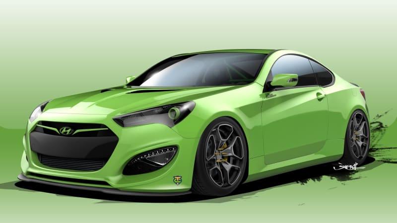 Hyundai Genesis Coupe Joins The Sema Fray Autoblog
