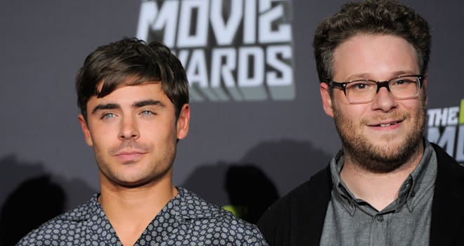 Zac Efrons First Run in With Seth Rogen Was Endearingly Awkward