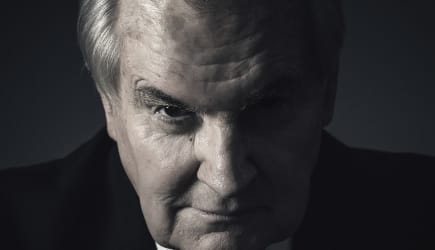 caucasian senior businessman - spooky portrait