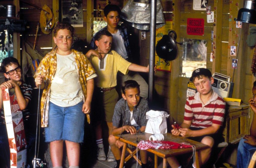 THE SANDLOT KIDS (1993) CHAUNCEY LEOPARDI, PATRICK RENNA, SHANE OBEDZINSKI, MIKE VITAR, MARTY YORK, VICTOR DIMATTIA, BRANDON