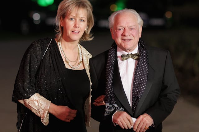 Actor David Jason and wife Gill Hinchcliffe