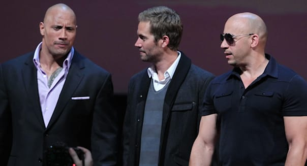 Apr 24, 2011 - Moscow, Russia - Actors DWAYNE JOHNSON, PAUL WALKER and VIN DIESEL attend the premier of Russian Premier of Fast