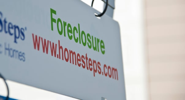 Foreclosure sign.  A sign of our times.