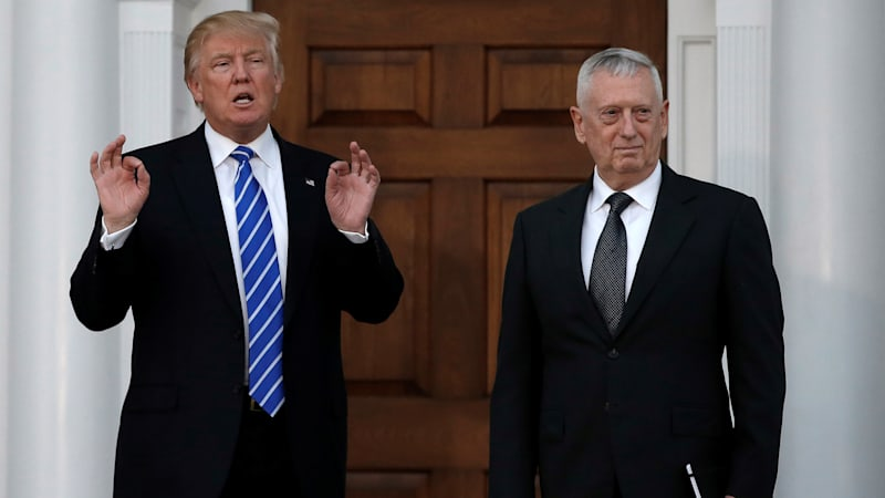 President-elect Trump picks former Marine Gen. Mattis for Secretary of Defense