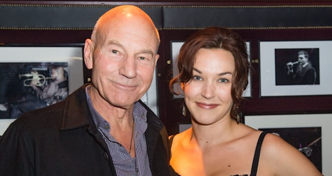 Patrick Stewart and Sunny Ozell in London on October 17, 2012