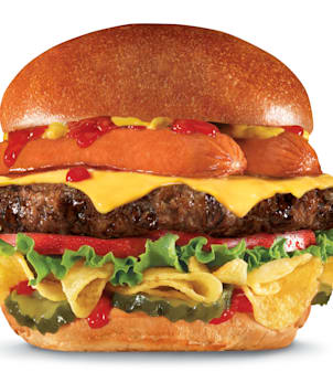 This undated product image provided by CKE Restaurants shows Carl's Jr. and Hardee's new