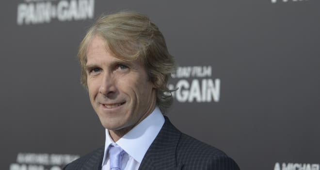 LA Premiere of Pain and Gain (Michael Bay arrives at the LA Premiere of