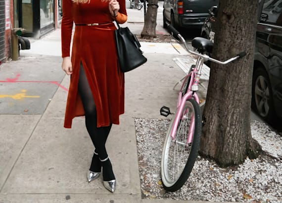 Street style tip of the day: Velvet and metallic