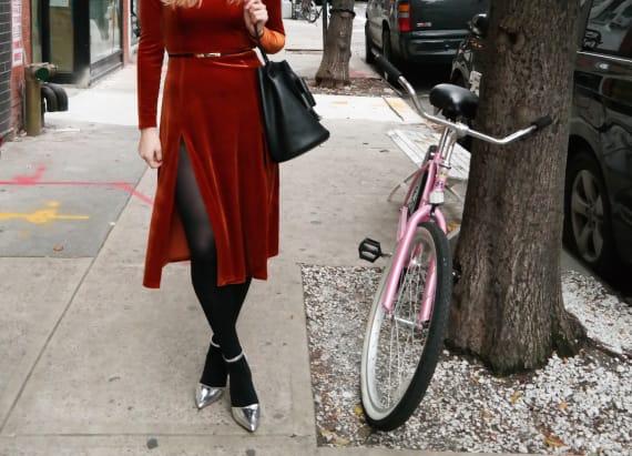 Street style tip of the day: Velvet and metallic