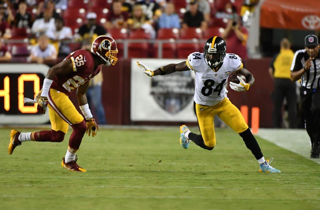 LANDOVER, MD - SEPTEMBER 12: Pittsburgh Steelers wide receiver