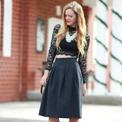 Street style tip of the day: Midi skirt