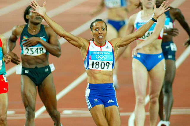 Olympic Games Athens 2004 Kelly Holmes GBR wins 800m ladies final