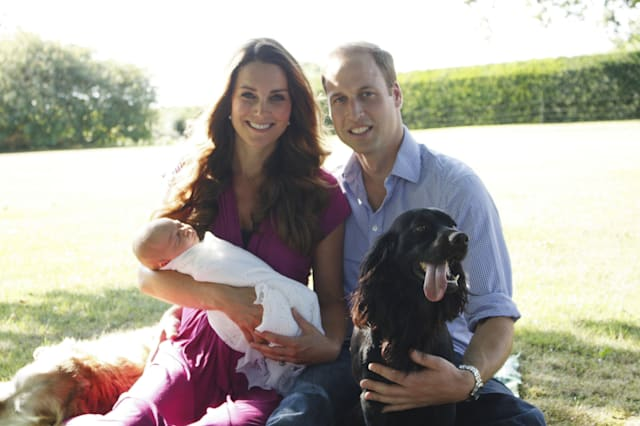 The Duke and Duchess of Cambridge and the two royal babies