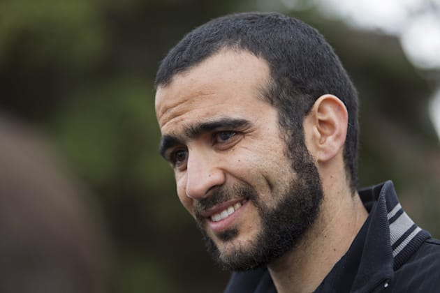Todd Korol/Reuters Omar Khadr attends a news conference after being released on bail in Edmonton on May 7, 2015. Khadr was once the youngest prisoner held ...