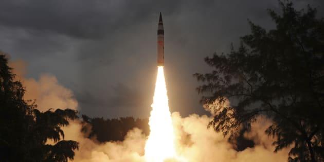 India Tests Agni-V Ballistic Missile