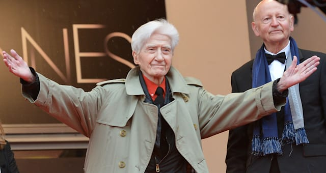 French director Alain Resnais (C) welcom