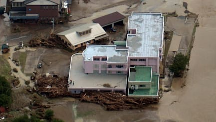 Japanese nursing home hit by deadly typhoon