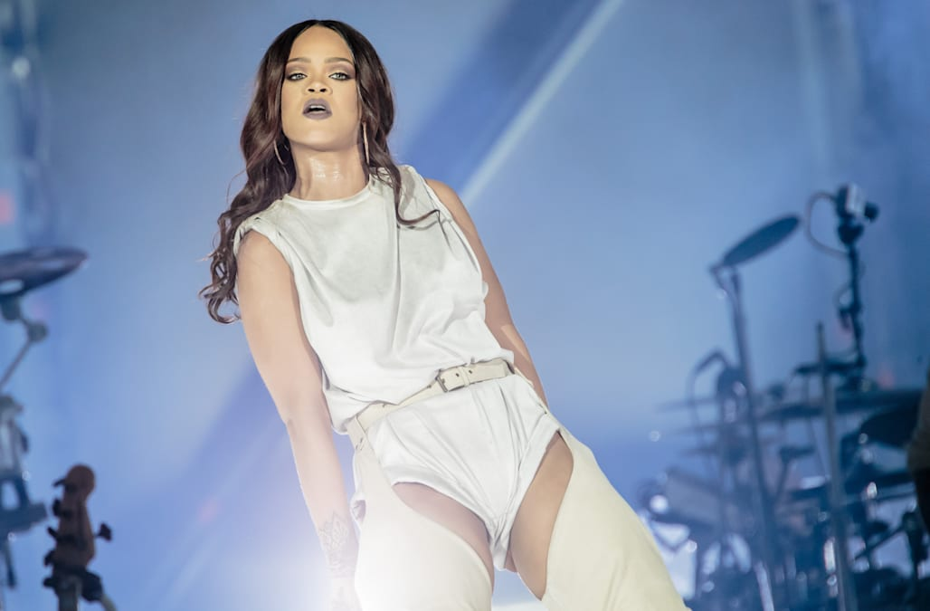 Rihanna Performs In Milan