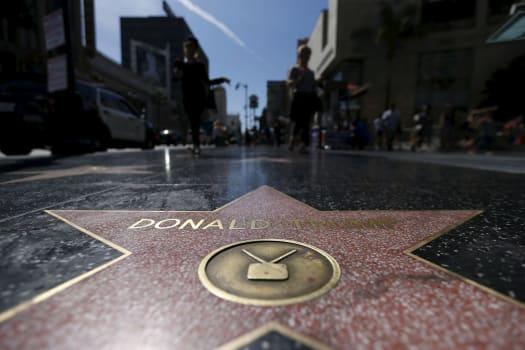 L'étoile de Donald Trump vandalisée sur Hollywood Boulevard — Etats-Unis