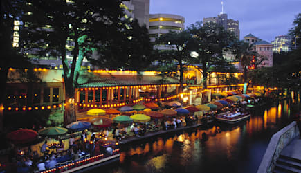Restaurants on The Riverwalk San Antonio Texas USA