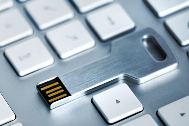 USB Stick Key on KeyboardUSB Stick Key on Keyboard