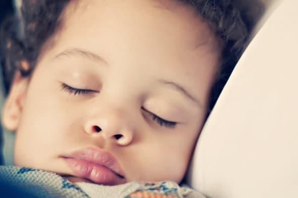 Boy toddler sleeping