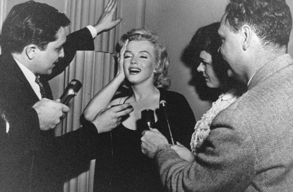 Actress Marylin Monroe. Photograph. 1960