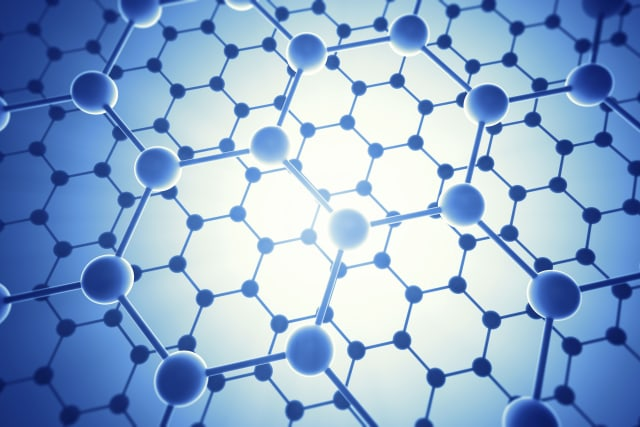 Graphene atomic structure, computer illustration.