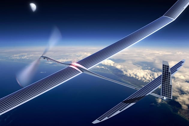 Google's solar plane crashed earlier this month