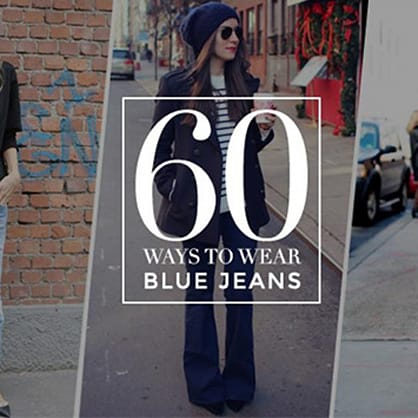 60 stylish ways to wear a basic pair of blue jeans