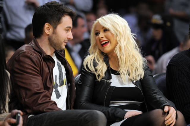 Christina Aguilera and fiance Matt Rutler