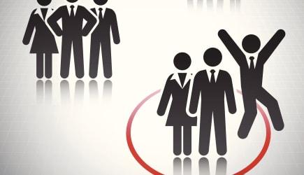 Business Team Concept Stick Figures