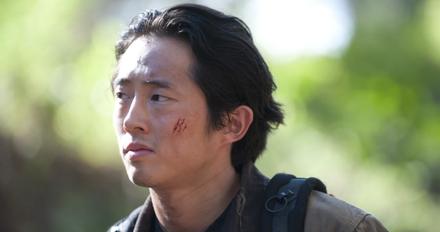Glenn (Steven Yeun) - The Walking Dead _ Season 4, Episode 15 - Photo Credit: Gene Page/AMC