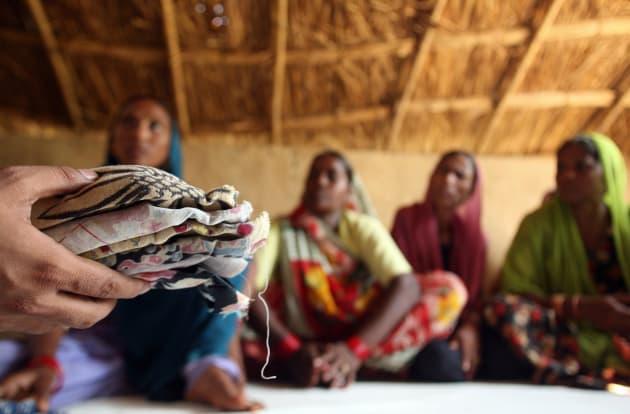 women will send sanitary napkins to PM के लिए इमेज परिणाम