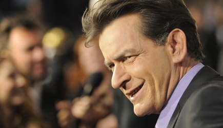 LA Premiere of Scary Movie V Arrivals (Charlie Sheen, a cast member in
