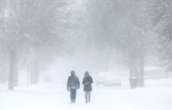 APTOPIX Winter Weather Michigan