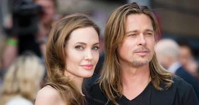 Angelina Jolie and Brad Pitt at the Premiere of 'World War Z' in London on June 2, 2013