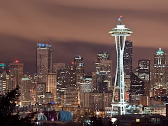the seattle  washington skyline ...
