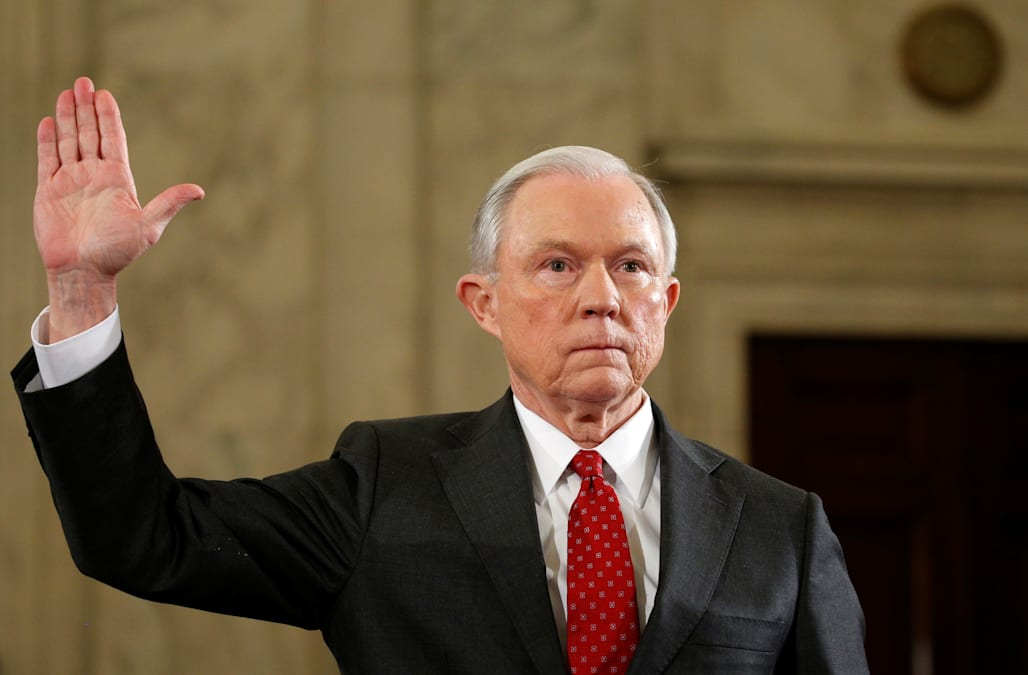 Amid protest, Jeff Sessions kicks off Donald Trump's Cabinet nominee hearings