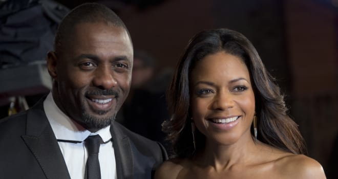 Idris Elba and Naomie Harris at the 'Long Walk to Freedom' UK Premiere