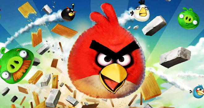 angry birds game start loading screen