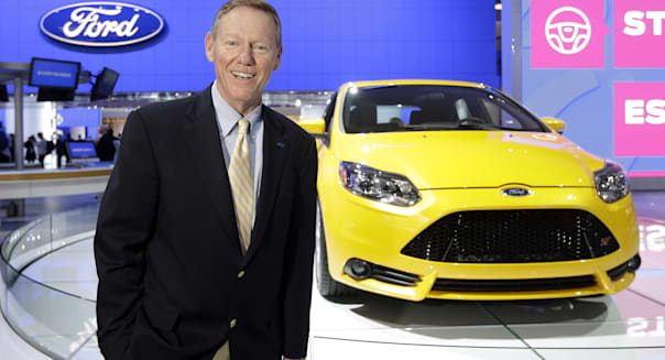 ford ceo alan mulally detroit auto show replace microsoft steve ballmer