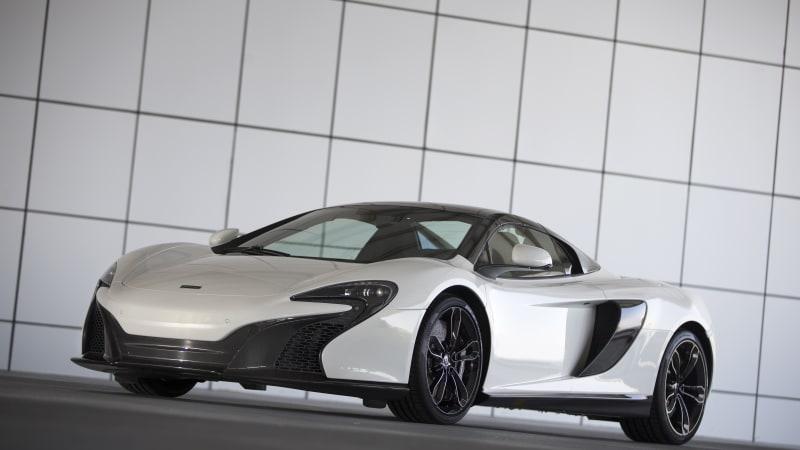 McLaren speeds into Dubai in white gold 650S Spider