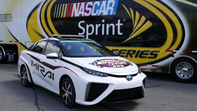 Toyota Mirai officially first hydrogen-powered pace car