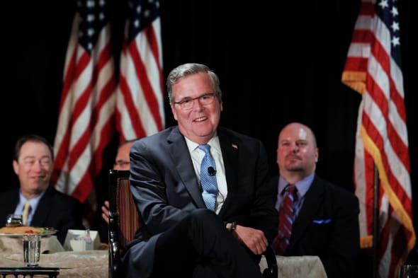 Former Florida Gov. Jeb Bush Speaks To Long Island Association Event