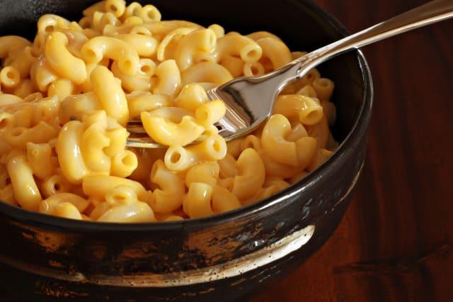 creamy macaroni and cheese in...