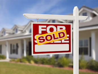 for sale sold real estate sign...