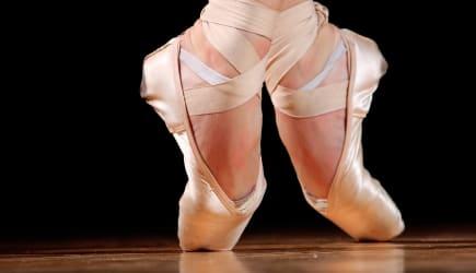 dancer in ballet shoes dancing...